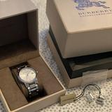 Burberry Accessories | Burberry Silver Steel Watch | Color: Silver | Size: 26 Mm