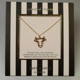 Kate Spade Jewelry | Kate Spade Celestial Charm Taurus Necklace | Color: Gold | Size: Os
