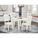 Red Barrel Studio® Alyxander Rubberwood Solid Wood Dining Set Wood in Brown/White, Size 29.0 H in | Wayfair F3E76E0C156841BCBB3C8B44EB81C6E8
