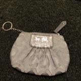 Coach Accessories | Authentic Coach Madison Op Art Keychaincoinpurse | Color: Gray | Size: 5.25 W X 3.25 T