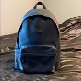 Coach Bags   Coach Navy Pebbled Leather Matte Mens Backpack   Color: Blue   Size: Os