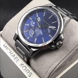 Michael Kors Accessories | Michael Kors Gunmetal Mens Watch | Color: Blue | Size: Os