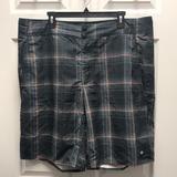 Columbia Swim   Columbia Mens Waterton Board Shorts Size 40   Color: Gray/Orange   Size: 40