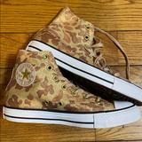 Converse Shoes | Converse High Top Gold Leopard Print | Color: Cream/Gold | Size: 8