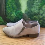 American Eagle Outfitters Shoes | American Eagle Bootie Zipper Slip On Shoes | Color: Tan | Size: 8.5