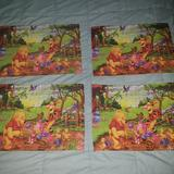 Disney Dining | Jay Franco Set 4 Disney Winnie The Pooh Placemats | Color: Green/Yellow | Size: Os
