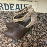 Jessica Simpson Shoes | Jessica Simpson Fionna Brown Ankle Boots Snake 10 | Color: Brown | Size: 10