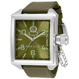Invicta Men's Russian Diver Stainless Steel Swiss Quartz Watch with Leather Strap, Green, 26 (Model: 33706)