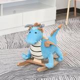 Qaba Plush Ride-On Toy Dinosaur Rocker   Wayfair 330-116