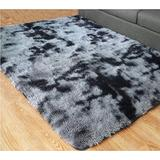 PAGISOFE Super Soft Large Rugs for Bedroom Living Room Kids Nursery, Fluffy Shag Floor Rug, Plush Fuzzy Shaggy Rugs, Black and Gray Rug, Big Fur Rug Carpet, Moderns Abstract Area Rugs 5'x8'