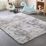 PAGISOFE Super Soft Large Rugs for Bedroom Living Room Kids Nursery,Fluffy Shag Floor Rug, Plush Fuzzy Shaggy Rugs, Gray and White Rug, Big Fur Rug Carpet, Moderns Abstract Area Rugs 5'x8'