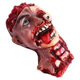 Garneck Halloween Zombie Head Pendant Bloody Dead Body Parts Scary Hanging Severed Head Decorations for Halloween Haunted House Party Props Decorations