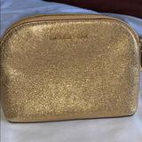 Michael Kors Bags | Michael Kors Makeup Bag | Color: Gold | Size: Os