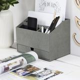 Bigso Desk Organizer in Gray, Size 7.2 H x 6.2 W x 9.4 D in | Wayfair 8581C6449