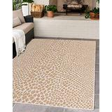 Unique Loom Jill Zarin Outdoor Collection Modern Geometric Beige Area Rug, Beige/Ivory, 3 x 5 feet