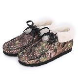 Women Boots Ankle Faux Shearling Warm Fur Snow Boots Winter Lace Up Flat Booties Suede Moccasins Leather Boot CW-SBT-017CAMO 9