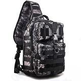 Hopopower Tactical Sling Bag Pack Military Rover Shoulder Sling Backpack Molle Bag Assault Pack Range Bag Daypack Backpack for Men