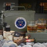Home Wet Bar American Heroes Custom All The Vices 30 Cal Ammo Can Set Of Air Force Gifts Glass, Size 3.25 H x 8.0 W in | Wayfair 8832