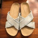 American Eagle Outfitters Shoes   American Eagle Outfitters (Aeo) Denim Sandals   Color: Blue/White   Size: 11