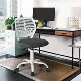 Hashtag Home Elkland Mesh Task Chair Plastic/Acrylic/Upholstered/Mesh in Gray, Size 34.3 H x 17.32 W x 17.9 D in | Wayfair