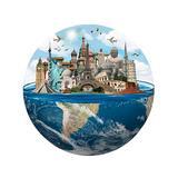 Teka Puzzle Puzzles Multicolor - Travel Landmark 1,000-Piece Puzzle