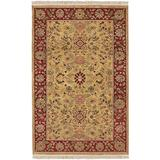 Hand-Knotted New Zealand Wool Area Rug - 2' X 3' Green Oriental Traditional Rectangle Latex Free Handmade
