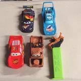 Disney Toys | Disney Set Car Toy Plastic Metal | Color: Red | Size: One
