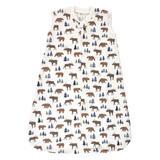 Hudson Baby Boys' Infant Sleeping Sacks Moose - White Moose & Bear Quilted Sleeveless Wearable Blanket - Infant