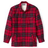 Men's Lands' End Traditional-Fit Plaid Sherpa-Lined Flannel Shirt Jacket, Size: XXL, Red