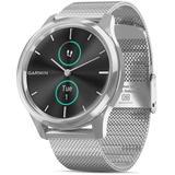 Vivomove Luxe Milanese Mesh Bracelet Touchscreen Hybrid Smartwatch - Metallic - Garmin Watches