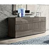 "Nocci Home Nocci HomeBirch Modern Style Dresser, Wood in Silver, Size 31""H X 66""W X 19""D | Wayfair ELH-3052-DD-BR"