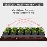 vivohome Seedling Heat Mat Hydroponic Unit in Black, Size 10.0 H x 20.75 W x 10.0 D in | Wayfair X001MZXN25