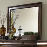 Birch Lane™ Deonte Traditional/Farmhouse/Country Beveled Dresser Mirror Wood in Brown, Size 39.0 H x 46.0 W x 1.75 D in | Wayfair