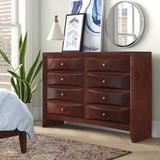 "ACME Furniture Ireland 8 Drawer 59"" W Double Dresser Wood in Brown, Size 41.0 H x 59.0 W x 17.0 D in   Wayfair 21455"