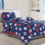 Trule Hollis 4 Piece Toddler Bedding Set Polyester in Red | Wayfair 614CEC1249B34A729387C54B52F15F3D