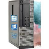 Dell Optiplex 9010 SFF Desktop Computer - Intel i7-3770 Upto 3.9GHz, AMD Radeon 1GB Graphics, 16GB RAM, 256GB SSD, DisplayPort, HDMI, DVI, DVD, Wi-Fi, Bluetooth, TDL - Windows 10 Pro (RENEWED)