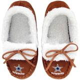 Youth Dallas Cowboys Moccasin Slippers, Kids Unisex, Size: XL 18-20, Multicolor