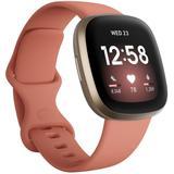 Versa 3 Pink Clay Strap Smart Watch 39mm - Pink - Fitbit Watches