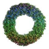 """60"""" Deluxe Oregon Fir Wreath, Lit with Twinkly Pro RGBW"""
