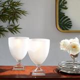 Hip Vintage Frosted Ice Ring Water Glass Glass in White, Size 12.0 H x 8.0 W in | Wayfair 16097