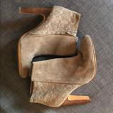 Coach Shoes | Grey Suede Ankle Boots | Color: Gray | Size: 9.5
