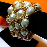 American Eagle Outfitters Jewelry   Bracelet Four Rows Of Pearls With Gold Chain Nwt   Color: Gold/White   Size: Os
