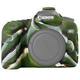 STSEETOP Canon 80D Case,Professional Silicone Rubber Camera Case Cover Detachable Antiscratch Shockproof Full Body Protective case for Canon EOS 80D (Army Green)