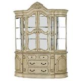 Benjara Door Traditional Hutch and Buffet Set with 2 Cabinets and 4 Drawers, White