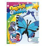 American Crafts Craft Kits - Blue & Black Butterfly Deluxe Suncatcher Craft Kit