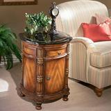 Lark Manor™ Furtado End Table w/ Storage Wood in Black/Brown, Size 28.0 H x 20.0 W x 20.0 D in   Wayfair 847070