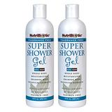 NutriBiotic Fragrance-Free Super Shower Gel, 12 oz Twin Pack | Whole-Body Moisturizing Shampoo with GSE & Botanical Extracts | Free of GMOs, Gluten, Parabens, Sulfates, Dyes, Colorings & Fragrance