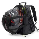 VCAN Motorcycle Helmet Holder Black Backpack Cycling Hiking Helmet catch Bag, also fit Basketball Football Soccer Backpack, Shoulder Bag