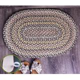 """Liveinu Braided Jute Rug with Non-Slip Adhesive Tape Kitchen Mats Woven Rugs Entryway Carpet Runners Doormats Area Rug for Doorway, Bedroom, Living Room, Laundry 29""""x20"""" Inch Oval"""