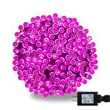 300 LED 98.4FT Christmas String Mini Light, Connectable Green Wire Fairy String Lights Plug in, UL Safe Certified Waterproof for Indoor Outdoor Use Xmas Tree Garden Wedding Party Decoration (Pink)